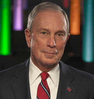A portrait of Mayor Michael Bloomberg.
